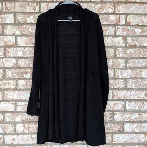 Eileen Fisher Black Open Cardigan Large